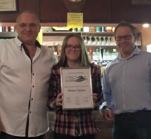 Robyn Dyson Most Improved Junior Swimmer 2015
